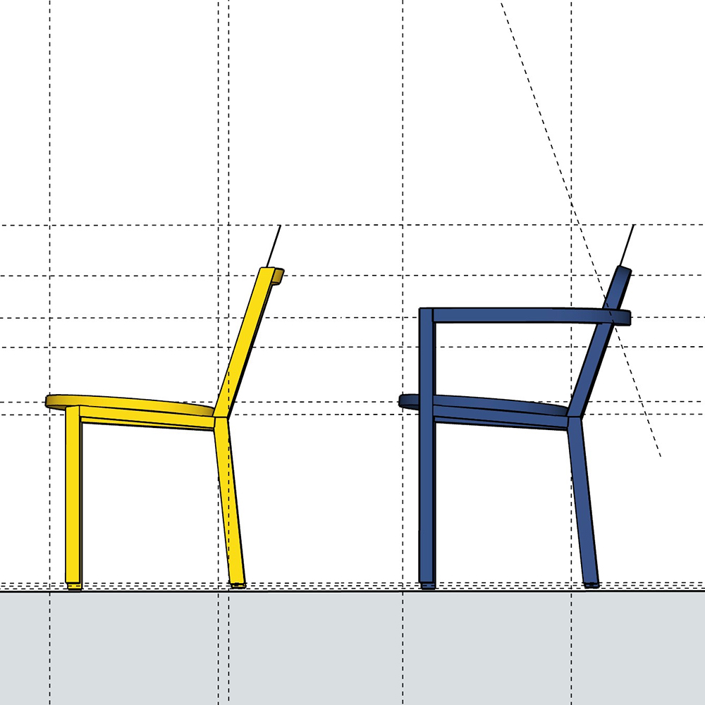 chairs blue yellow